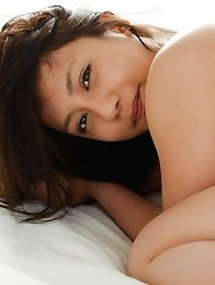 Bust y and sexy Japanese av idol Mei Matsumoto shows her busty naked breasts