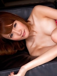 Misuzu Tachibana in blue shiny lingerie rubs cunt of bathtub